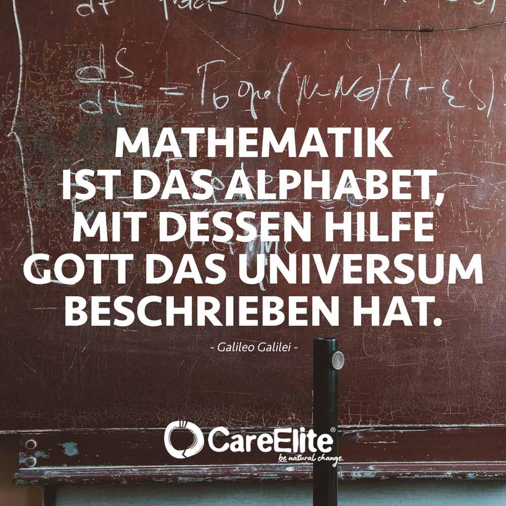 Mathematik ist Alphabet Galileo Galilei Zitat