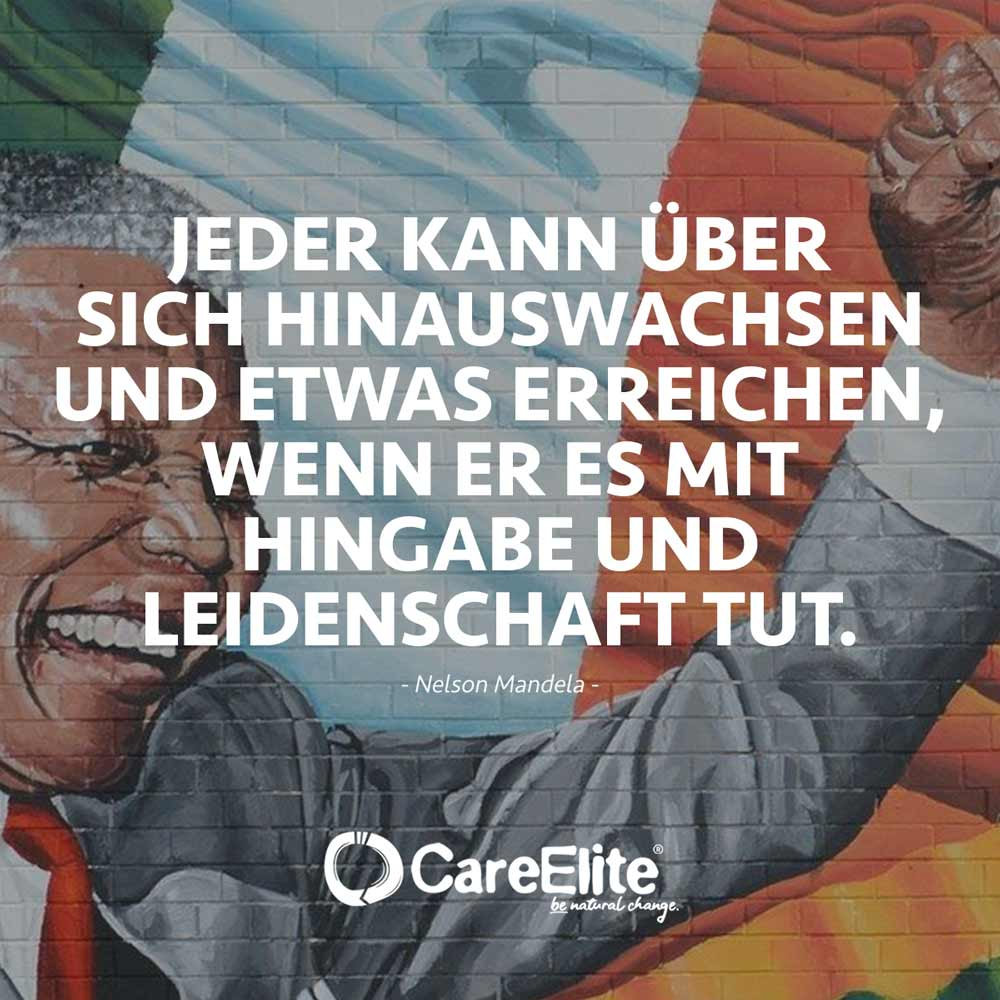Jeder kann über sich hinauswachsen Zitat Mandela