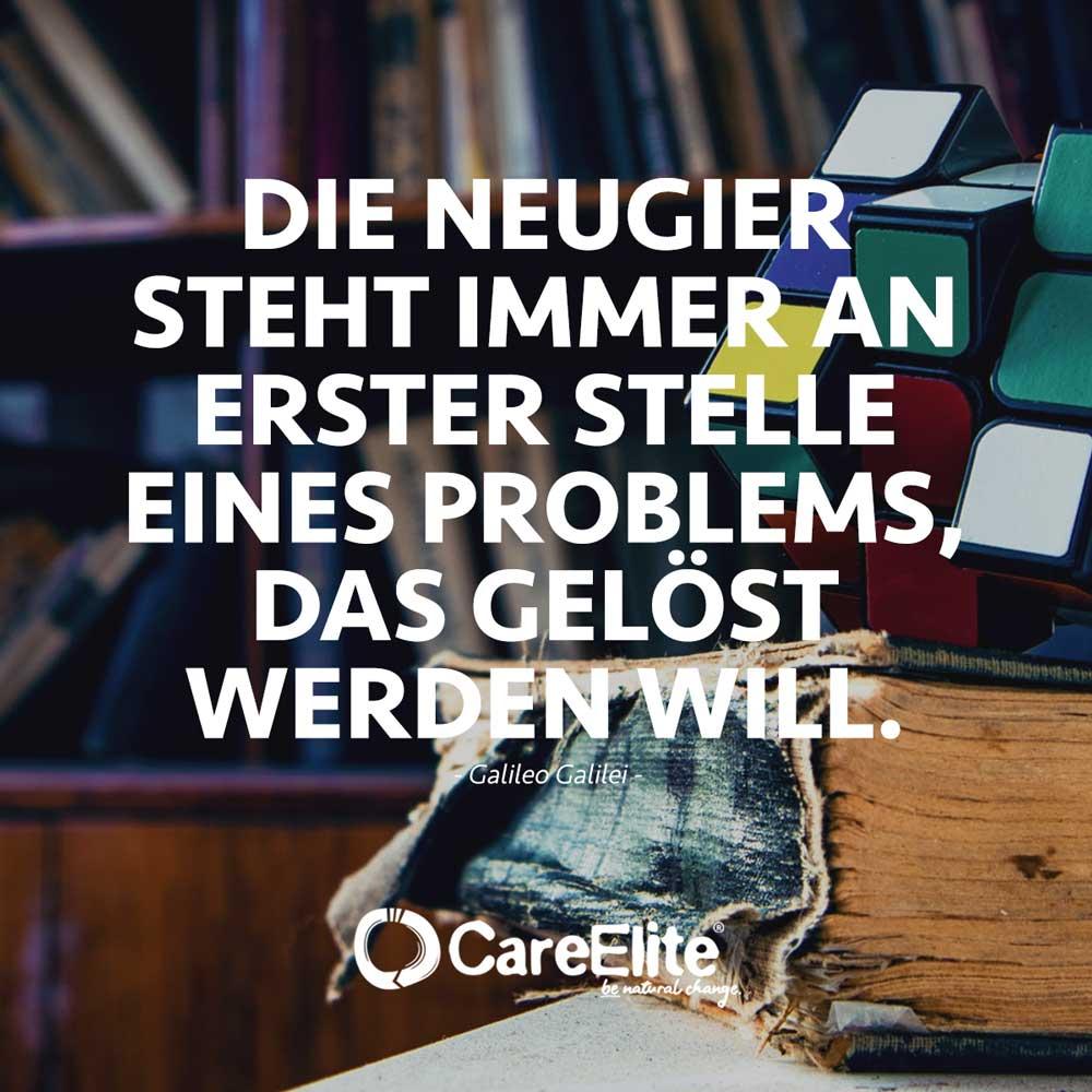 Neugier steht immer an erster Stelle Zitat Galileo Galilei