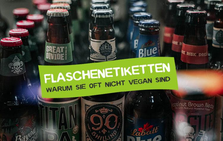 Vegane Etiketten - Warum Etikettenkleber meist nicht vegan ist