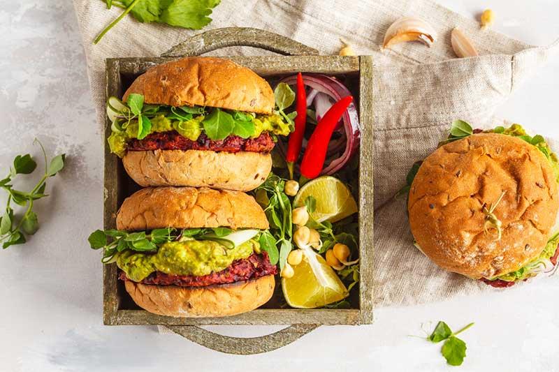 Vegane Burger als nachhaltige Alternative