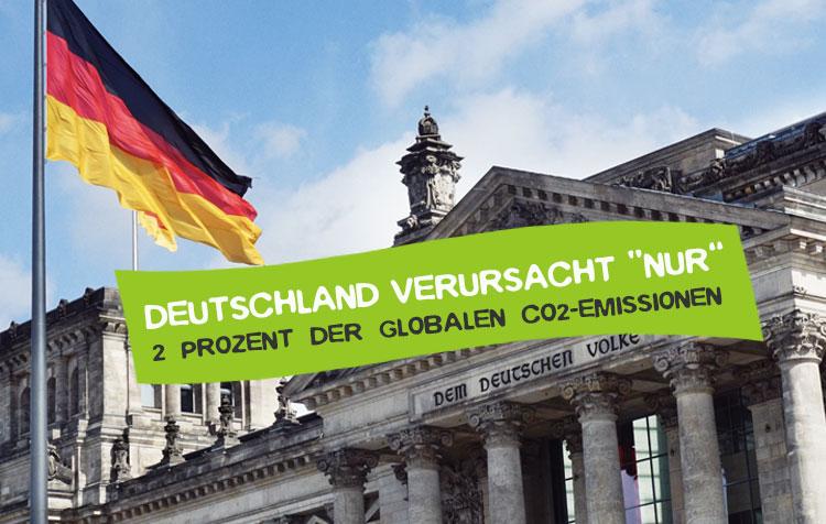 Deutschland stößt nur 2 Prozent der weltweiten CO2-Emissionen aus