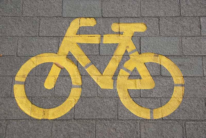 Fahrrad Zeichen Nudge