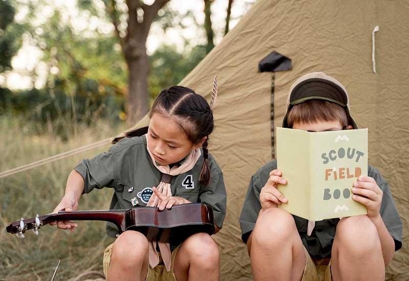 Kinder nach draußen locken durch Aktionen