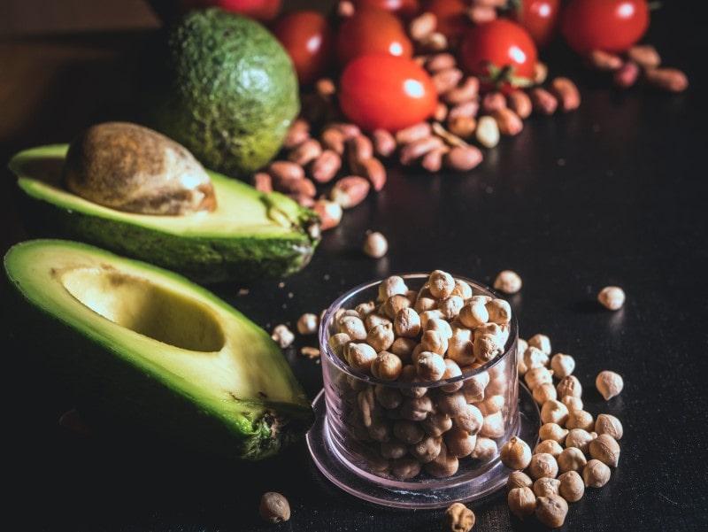 Getrocknete Kichererbsen gesunde Lebensmittel