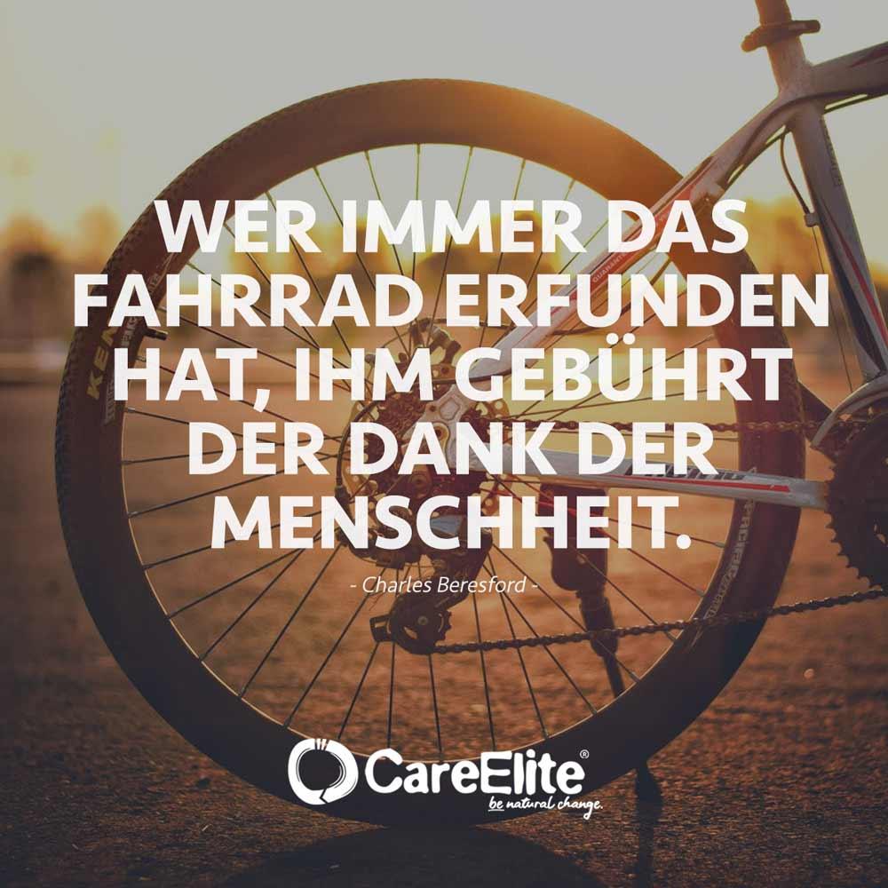 Wer Fahrrad erfunden hat Dank Zitat