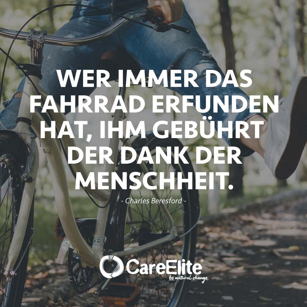 Fahrrad erfunden Zitat Radfahren