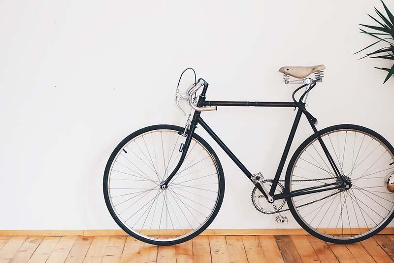 Radfahren ist platzsparend - Vorteile Umwelt