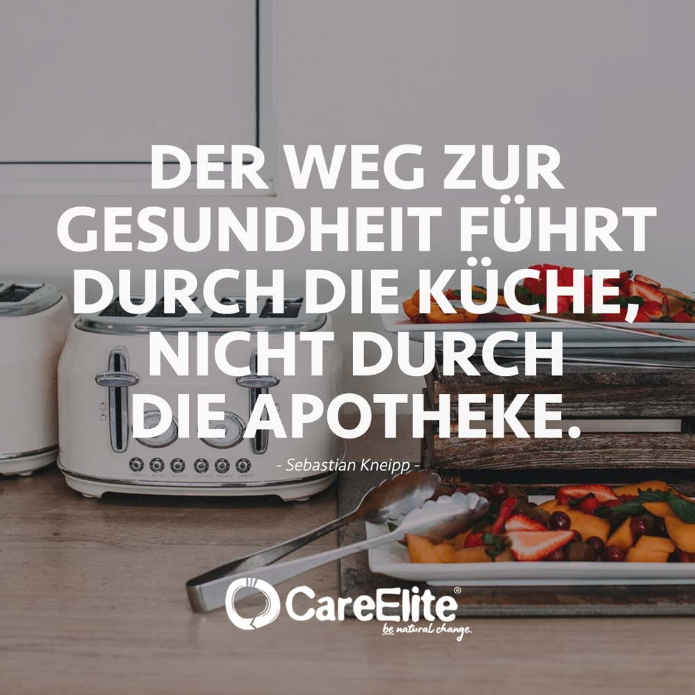 Weg zur Gesundheit führt durch die Küche nicht die Apotheke Zitat