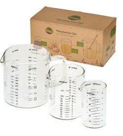 Plastikfreie Messbecher aus Glas