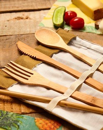 Plastikfreies Weihnachtsgeschenk für Frauen Holzbesteck