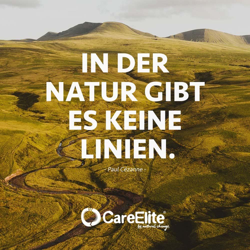 Natur keine Linien Zitat