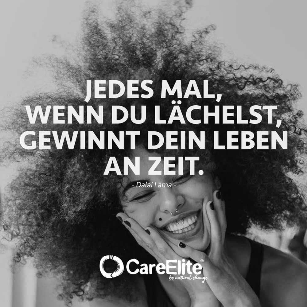 Jedes Mal Lächeln gewinn Leben Zeit Zitat