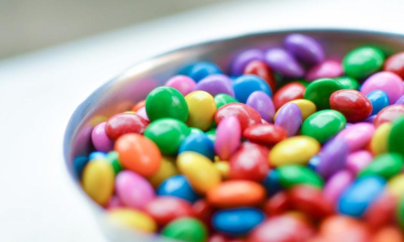 Nicht vegetarische Lebensmittel - Süßigkeiten