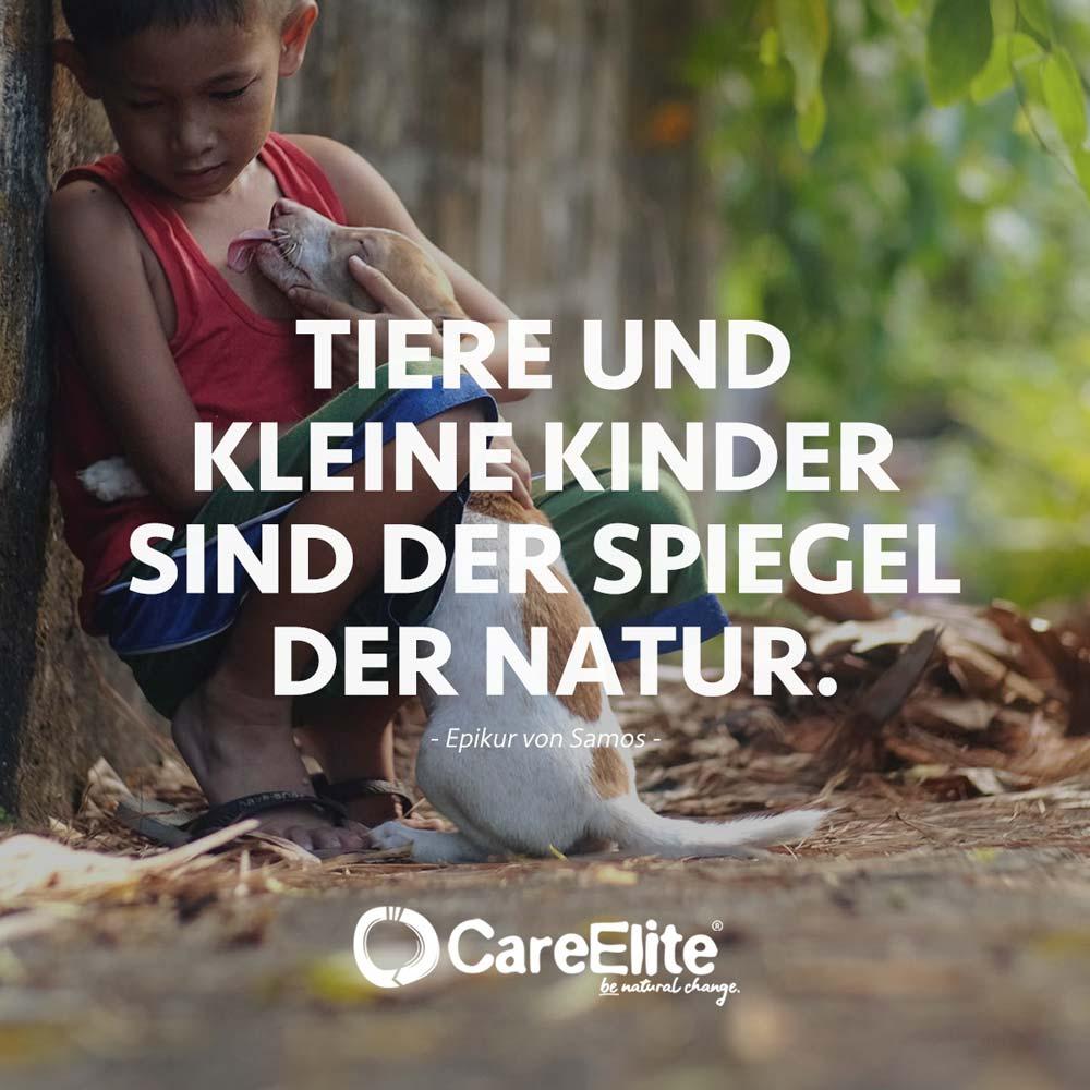 Kinder und Tiere Spiegel Zitat