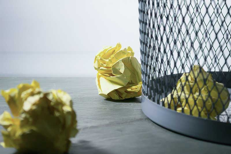 Im Homeoffice fällt weniger Papiermüll an