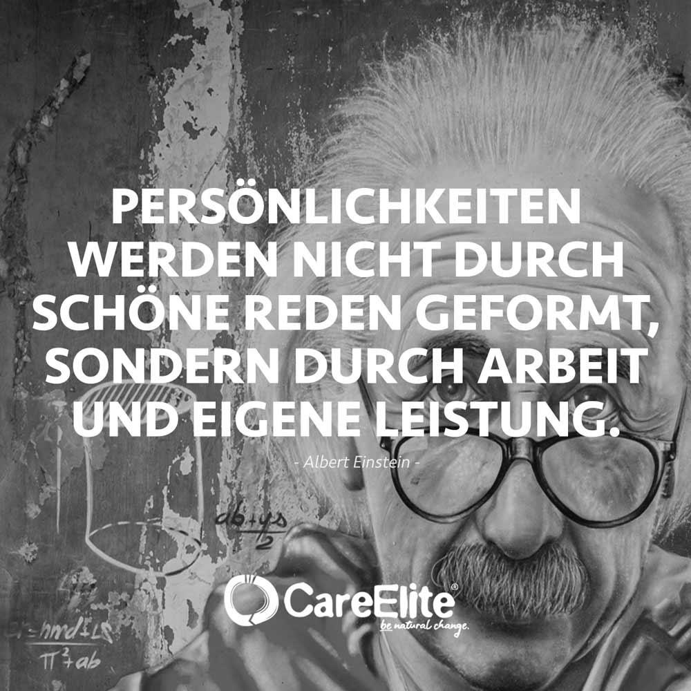 Persönlichkeiten werden durch Leistung geformt Einstein Zitat