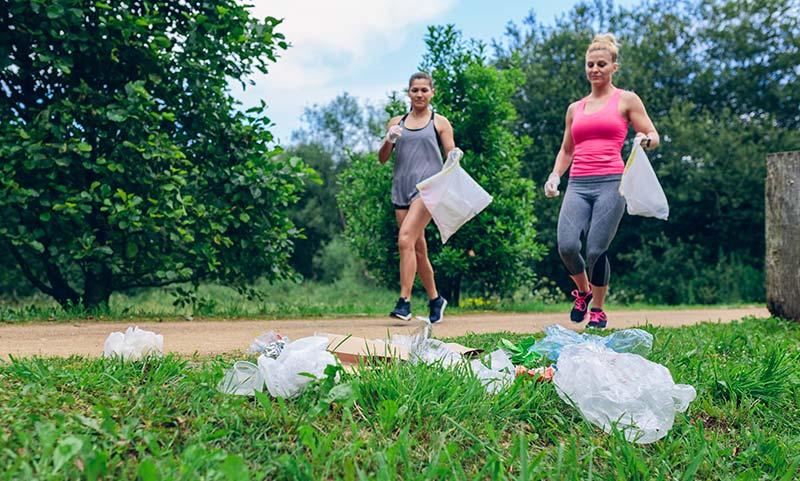 Ploggen - Müll sammeln und Laufen