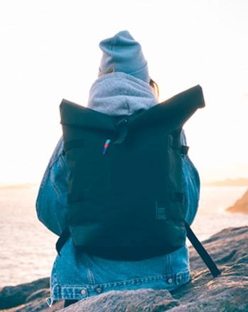 Rucksack aus Meeresmüll