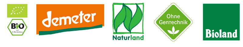 Zertifizierungen und Siegel für Produkte aus ökologische Landwirtschaft