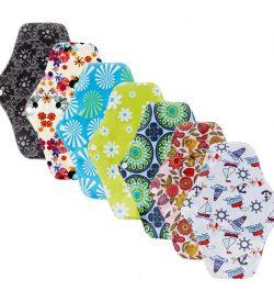 Nachhaltige Slipeinlagen ohne Plastik Baumwolle Stoff Damenbinde