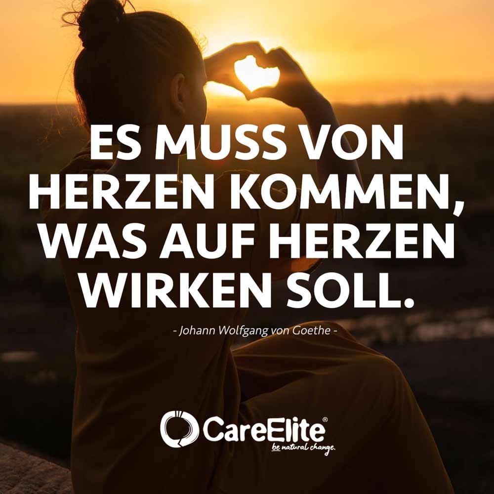 Es muss von Herzen kommen Zitat Liebe