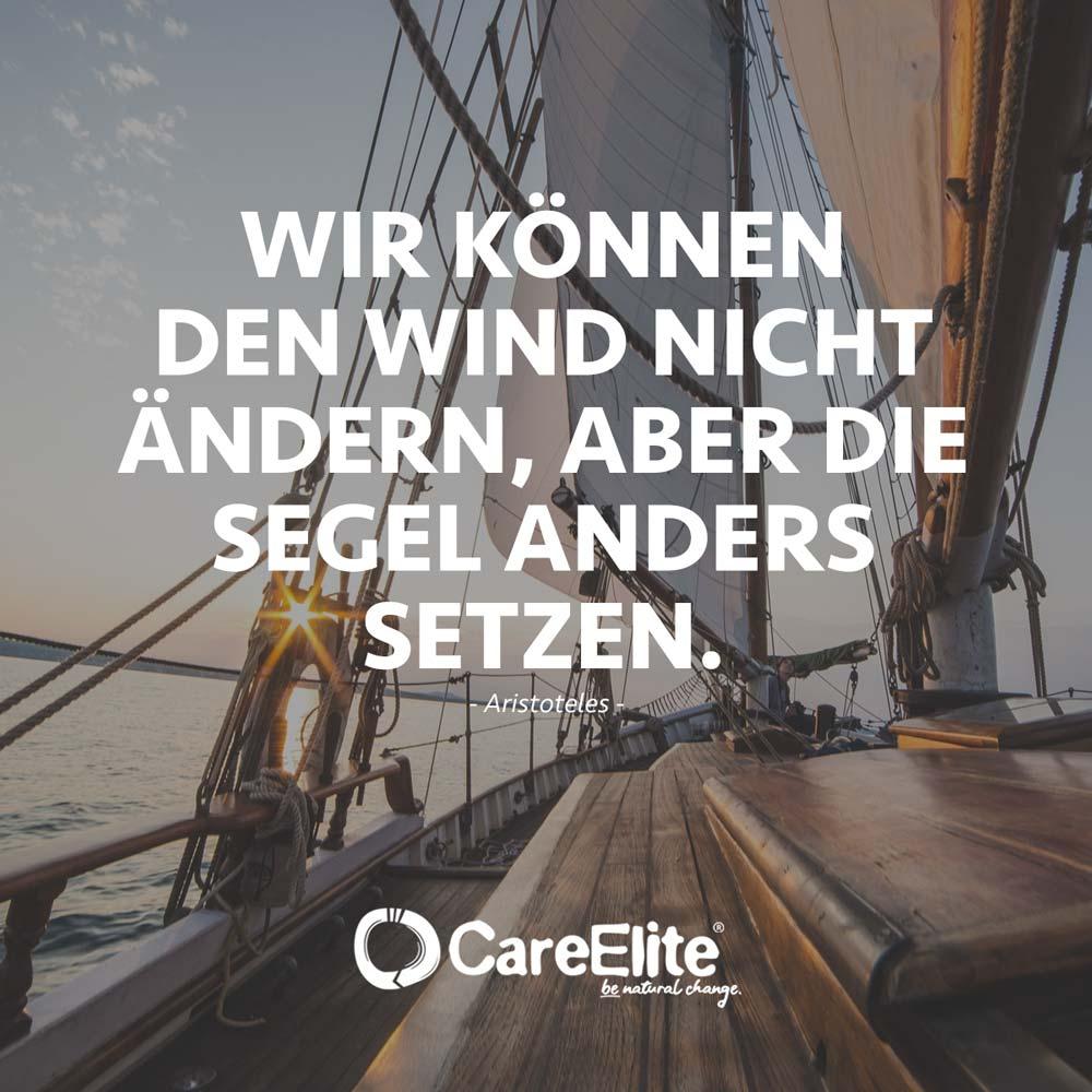 Wind nicht ändern - Nachhaltigkeit Zitat