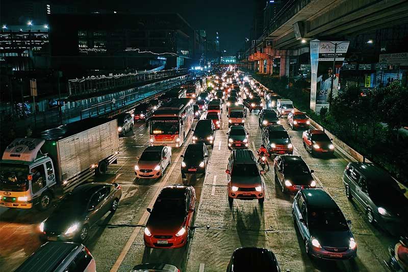 Straßenverkehr im Homeoffice geringer